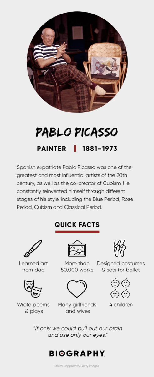 Pablo Picasso Fact Card