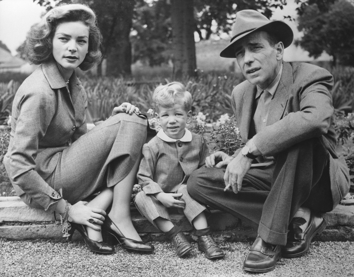 Lauren Bacall and Humphrey Bogart with their son, Steve