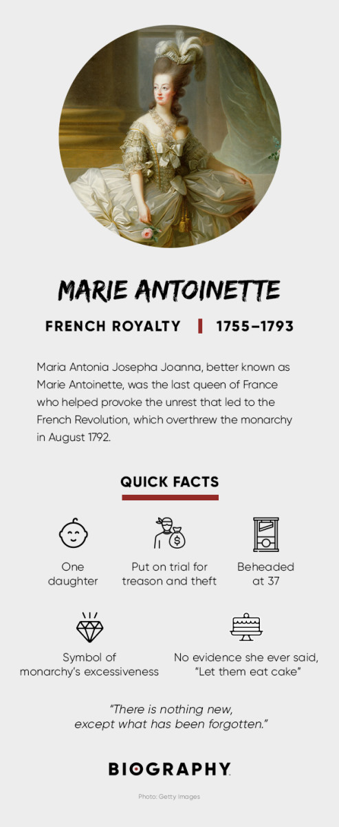 Marie Antoinette Syndrome Children & Death Biography