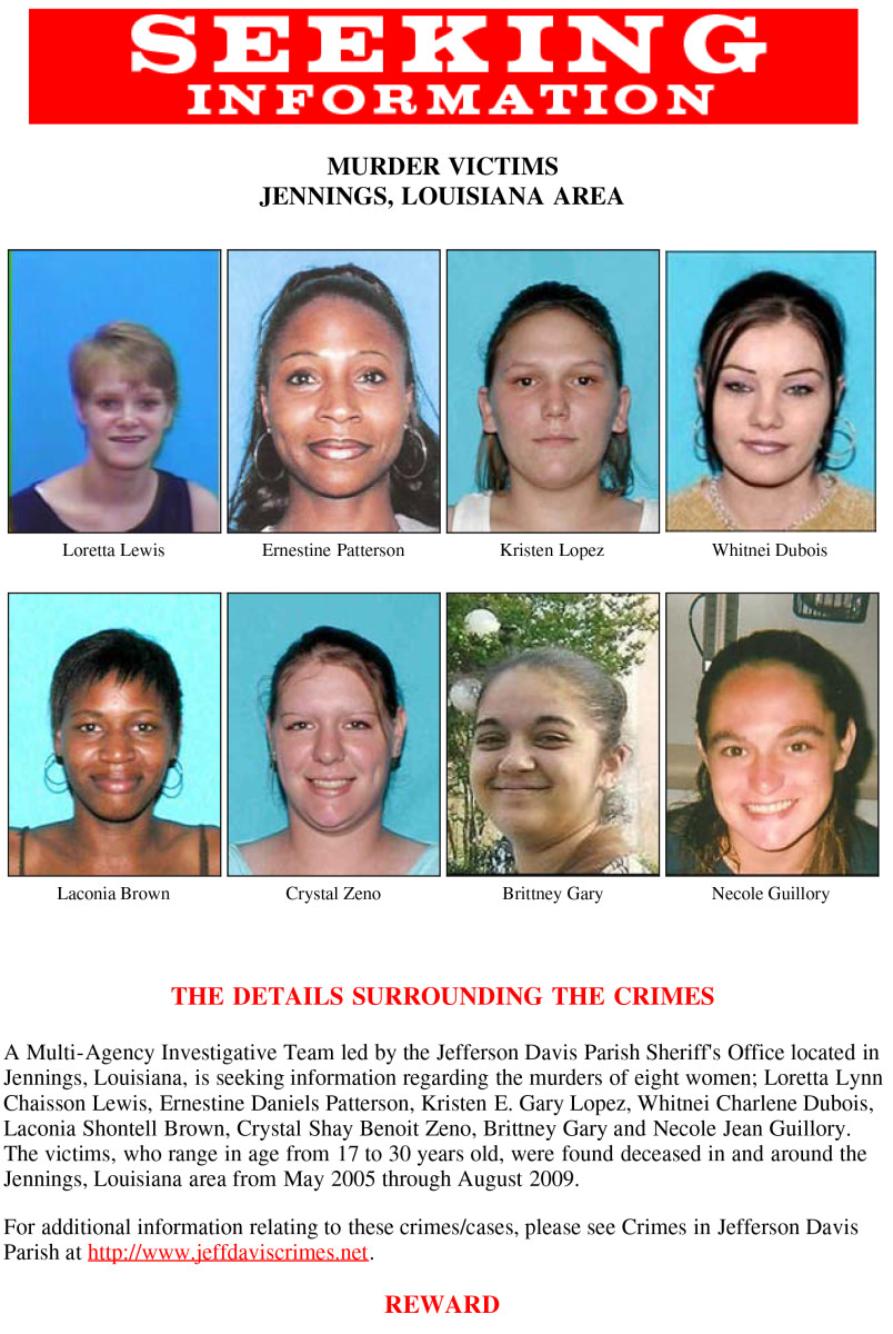 Seeking Information poster for the Jeff Davis 8