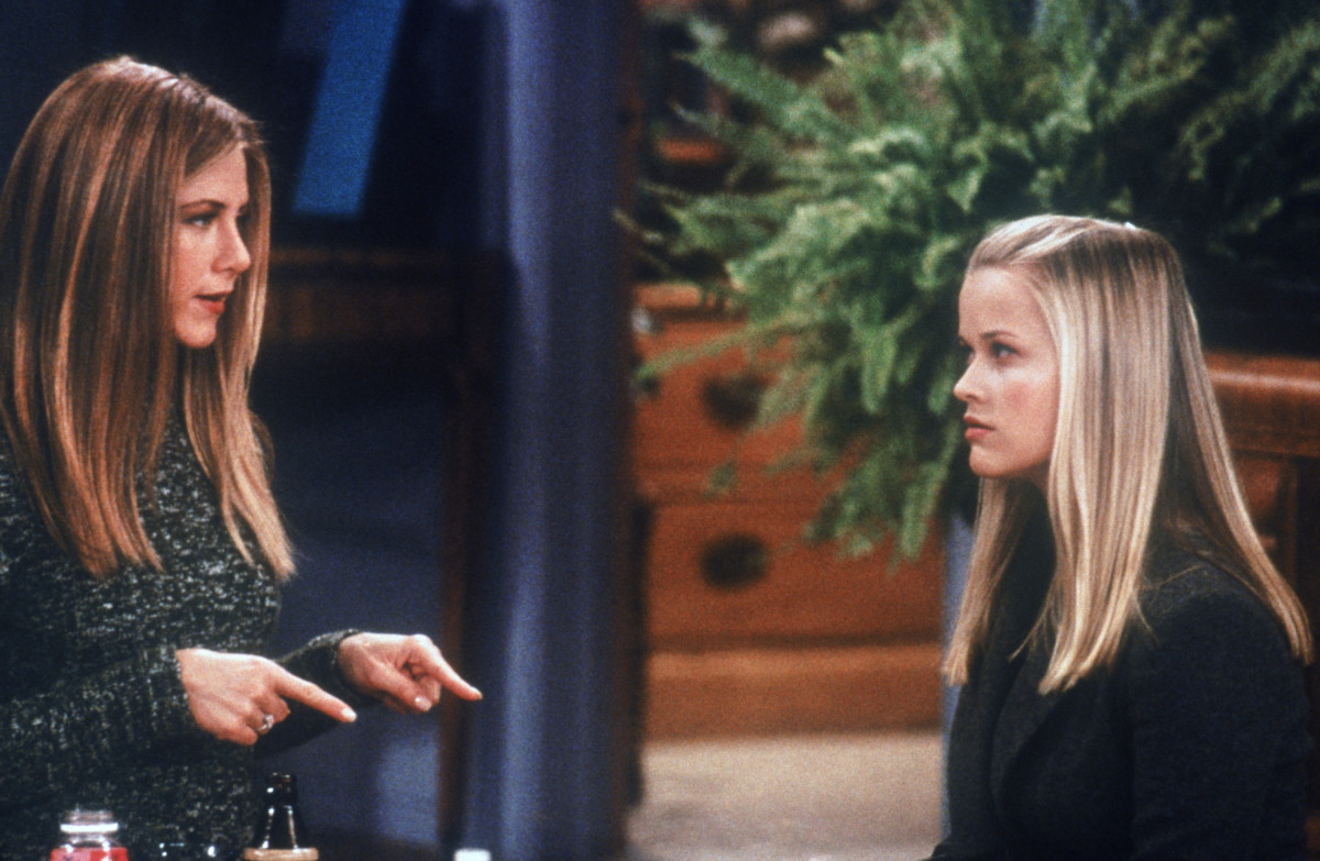 Jennifer Aniston as Rachel Green, Reese Witherspoon as Jill Green