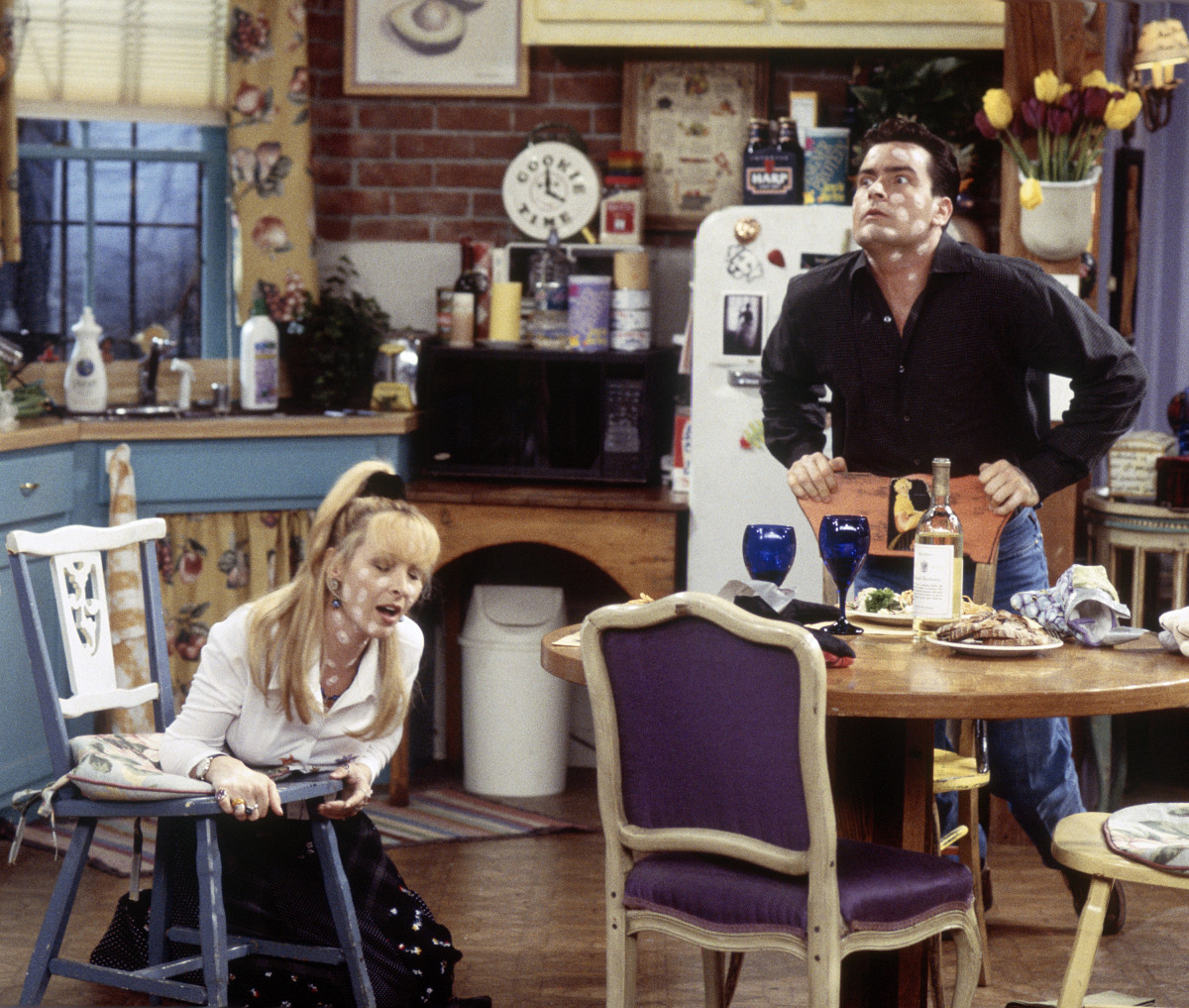 Lisa Kudrow as Phoebe Buffay, Charlie Sheen as Ryan