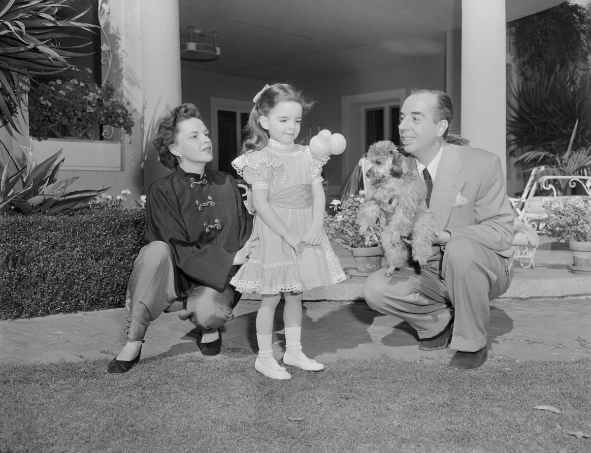 Judy Garland with her second husband, director Vincente Minnelli, and their daughter, Liza Minnelli.