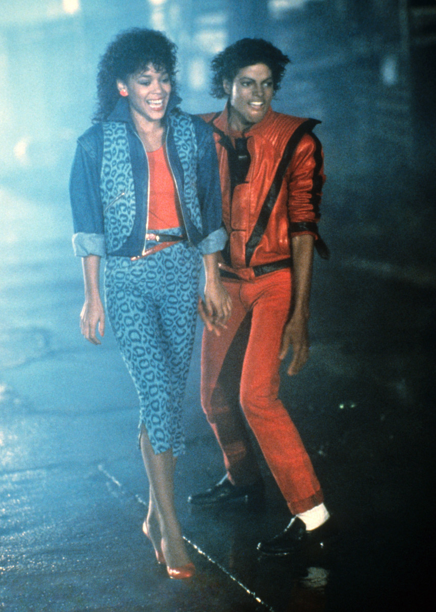 Ola Ray and Michael Jackson in the Thriller music video