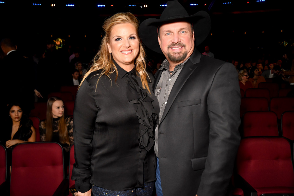 Trisha Yearwood and Garth Brooks attend the 2019 iHeartRadio Music Awards at the Microsoft Theater on March 14, 2019, in Los Angeles, California.