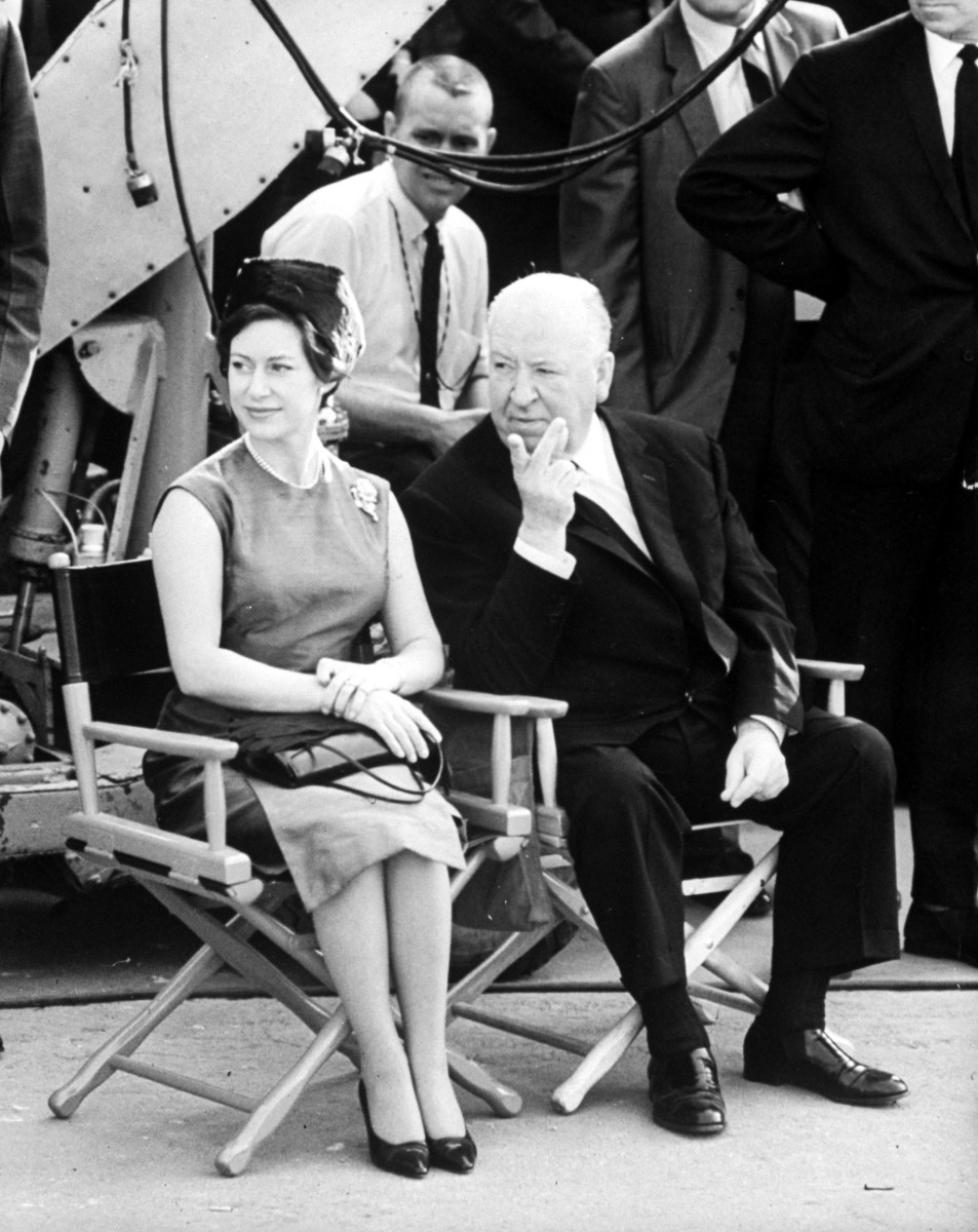 Princess Margaret and Alfred Hitchcock