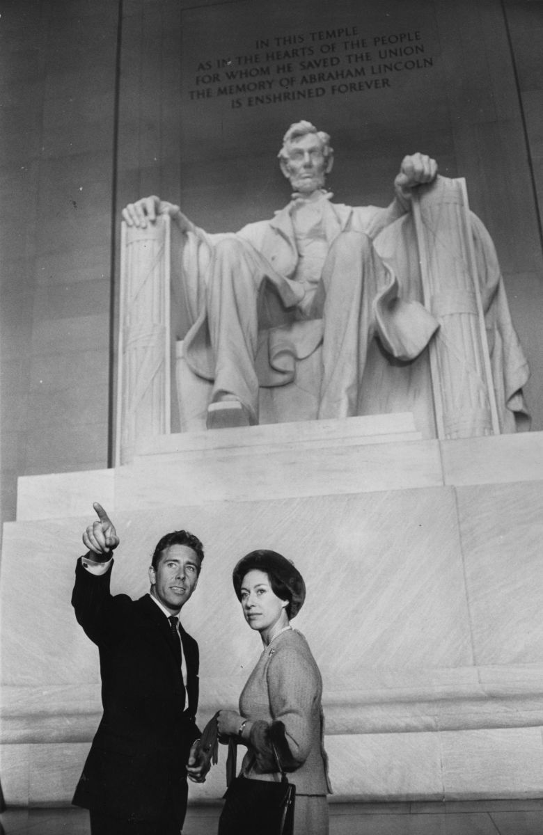 Princess Margaret and Lord Snowdon at the Lincoln memorial in Washington D.C.