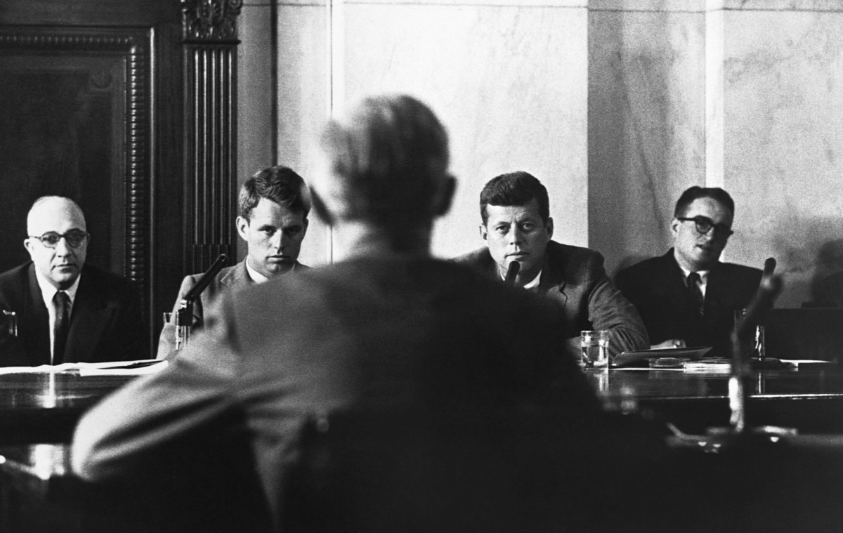 Robert and John F. Kennedy at the McClellan hearing