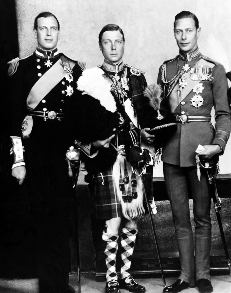 George VI, Edward VIII and Prince Henry