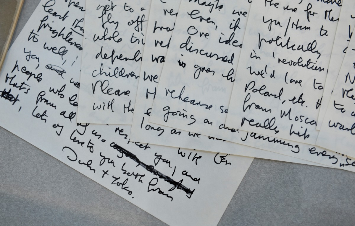 The letter John Lennon and Yoko Ono wrote to Eric Clapton about forming a group together, dated September 29, 1971
