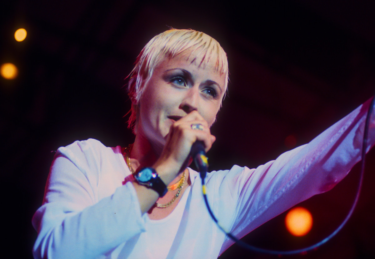 Dolores O'Riordan performs with her band the Cranberries at Central Park SummerStage, New York, New York, August 11, 1994.