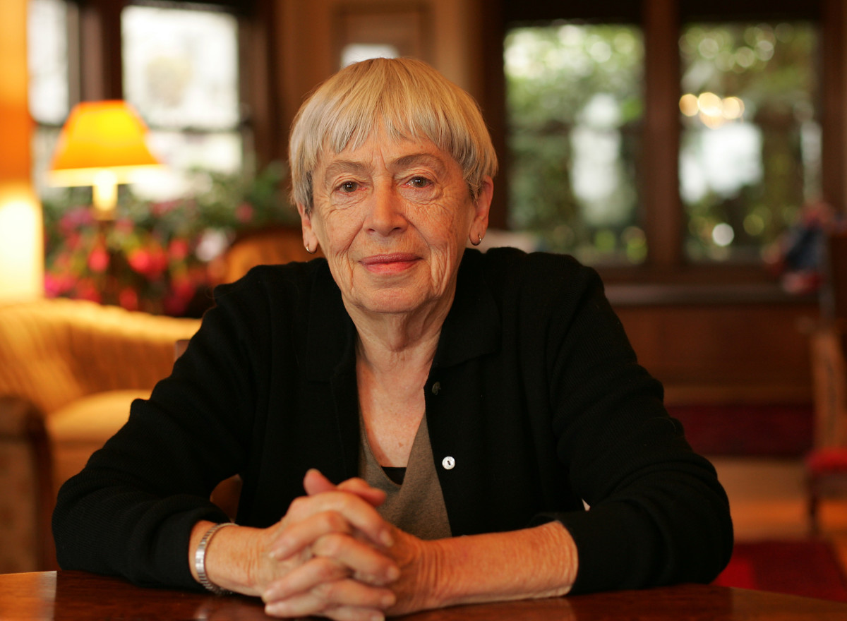 Ursula Le Guin at home in Portland