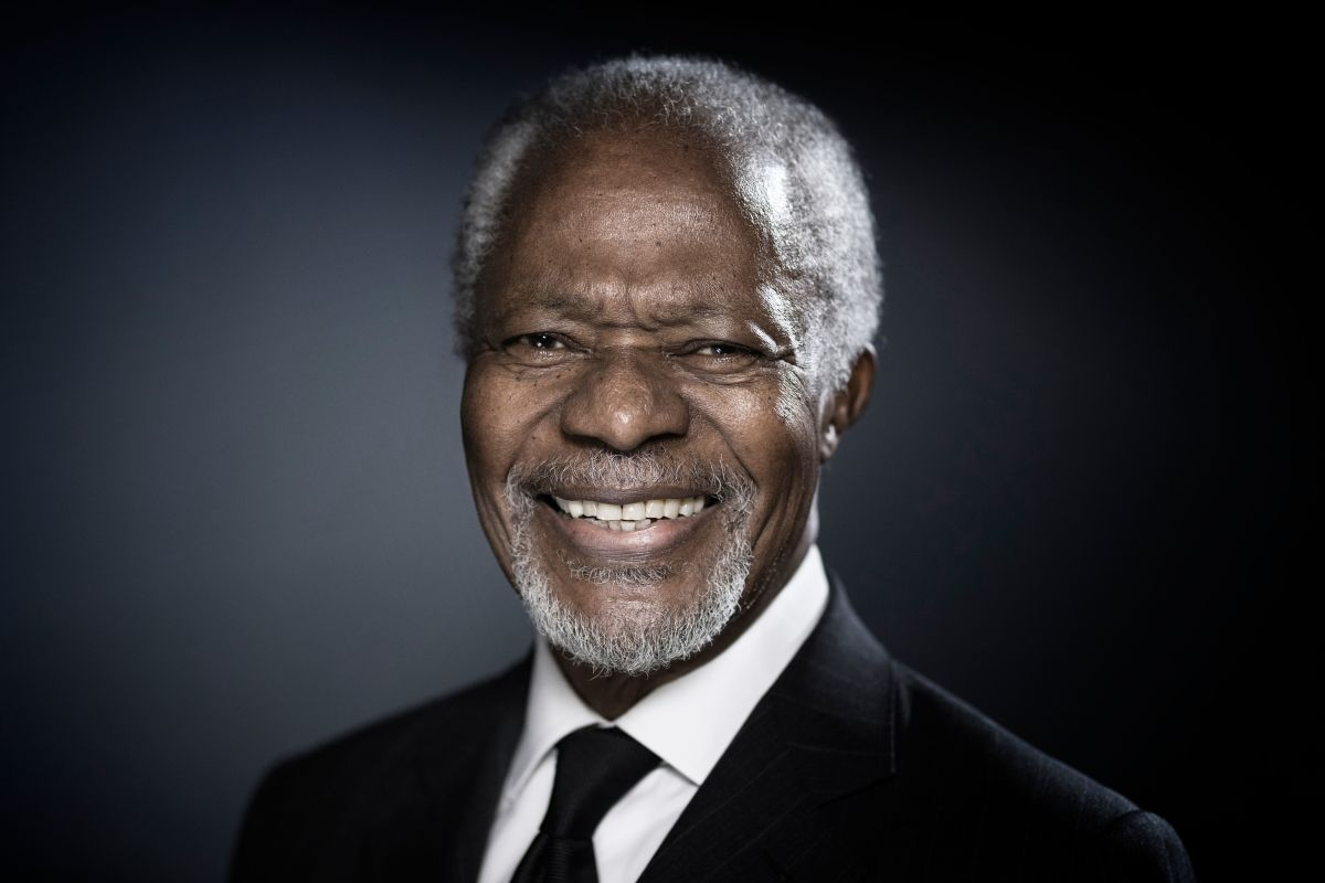 Kofi Annan in Paris on December 11, 2017