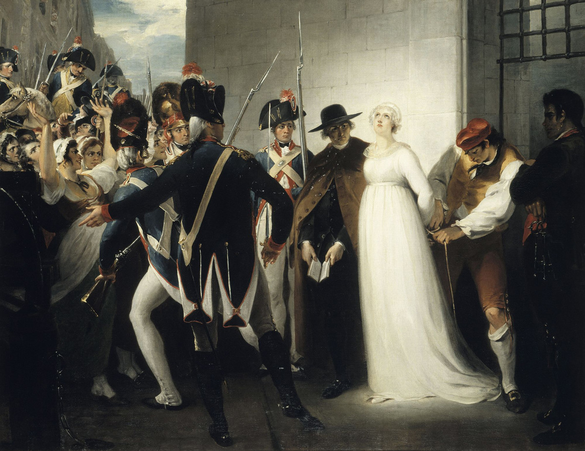Marie Antoinette Being Taken to Her Execution on 16 October 1793, 1794. Found in the collection of Musée de la Révolution française, Vizille.
