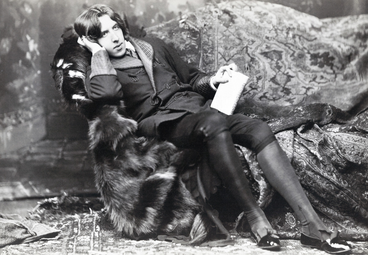 Oscar Fingal O'Flahertie Wills Wilde 1854 1900 Irish novelist playwright freemason wit Photograph by Napoleon Saron