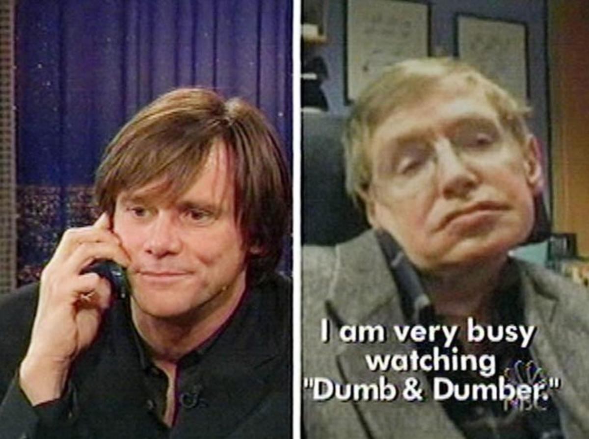 Jim Carey and Stephen Hawking on Late Night with Conan O'Brien