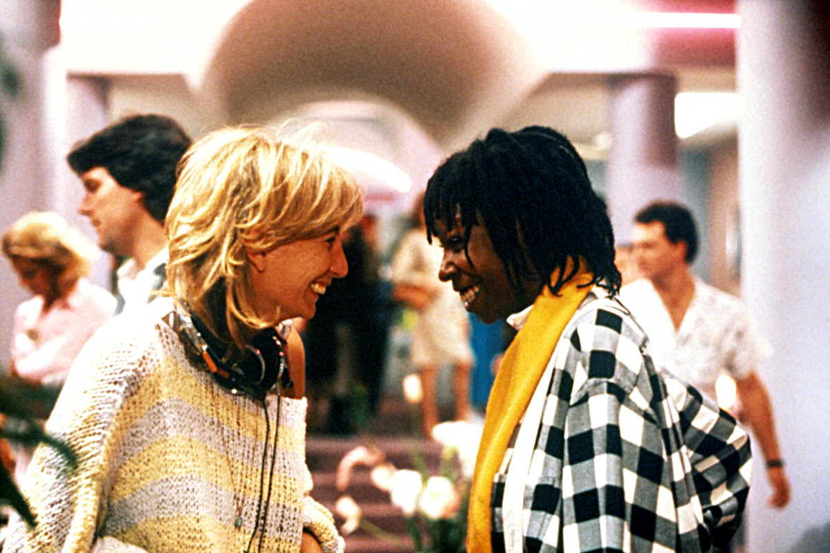 Penny Marshall directing Whoopi Goldberg in Jumpin' Jack Flash