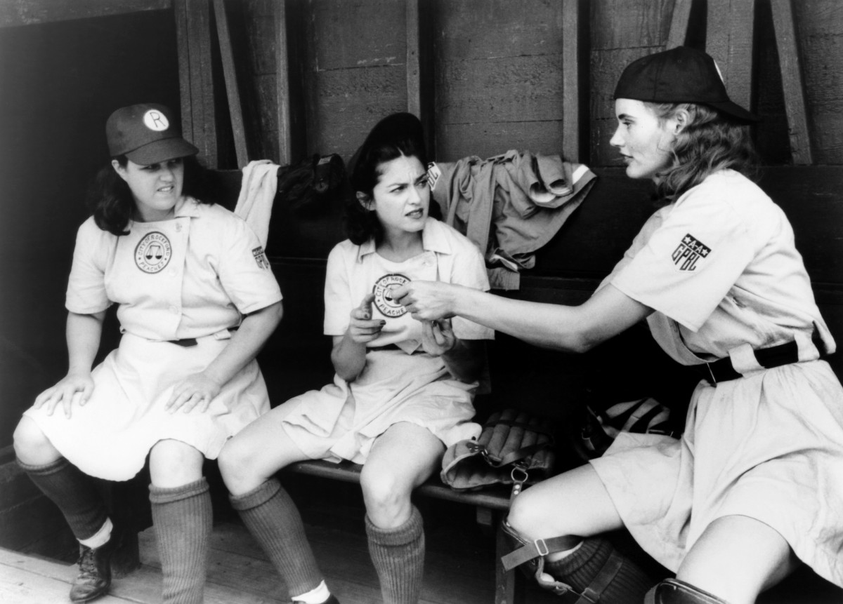 Rosie O'Donnell, Madonna and Geena Davis in A League of Their Own