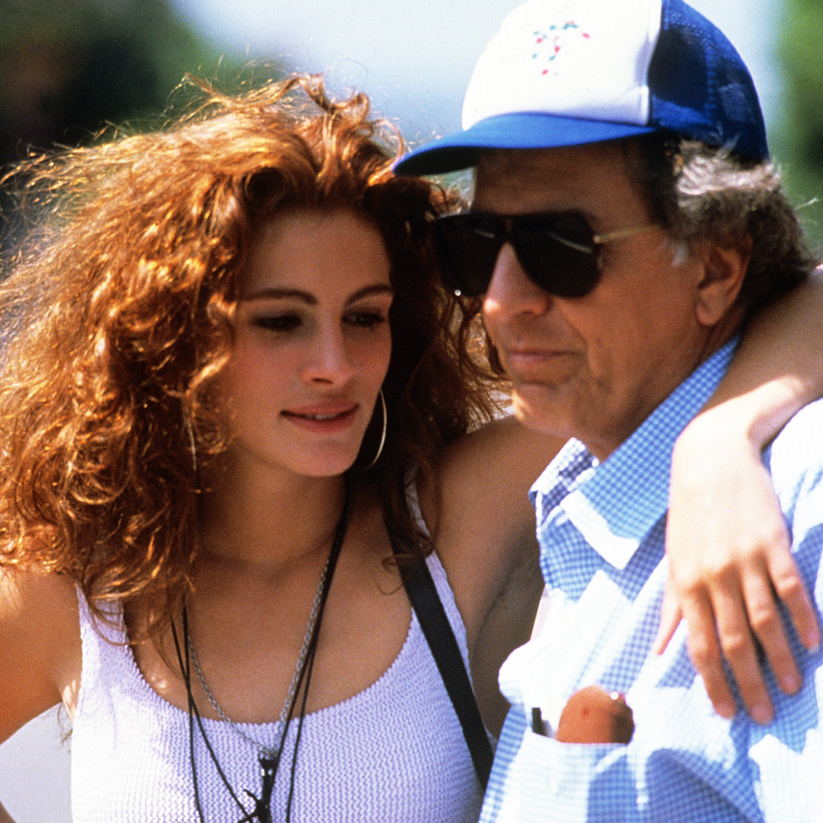 Julia Roberts, director Garry Marshall on set of Pretty Woman