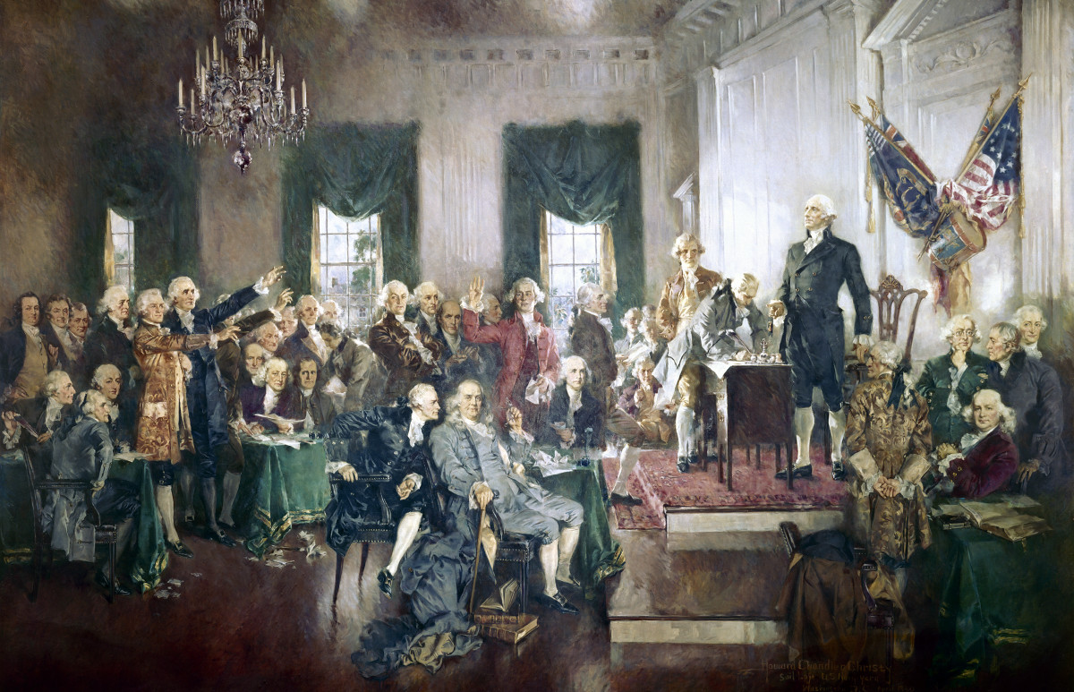 The Signing of the Constitution of the United States