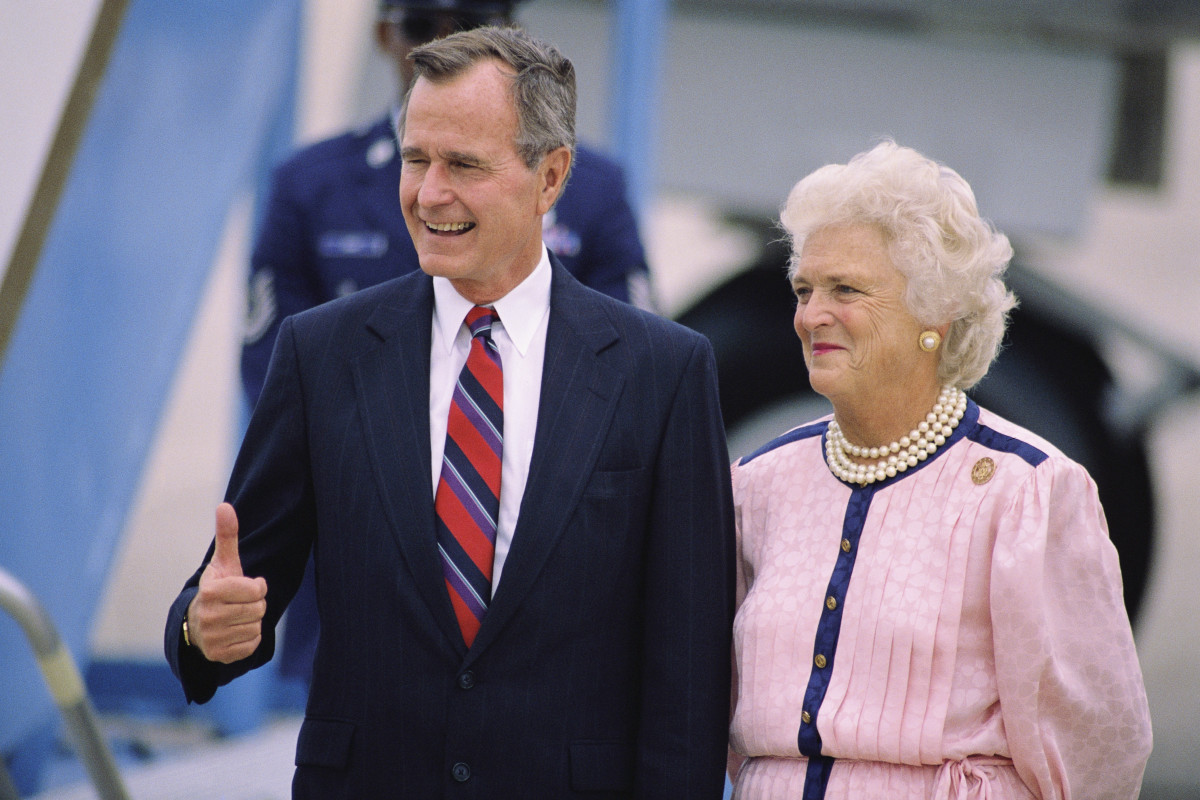 George Bush and Barbara Bush