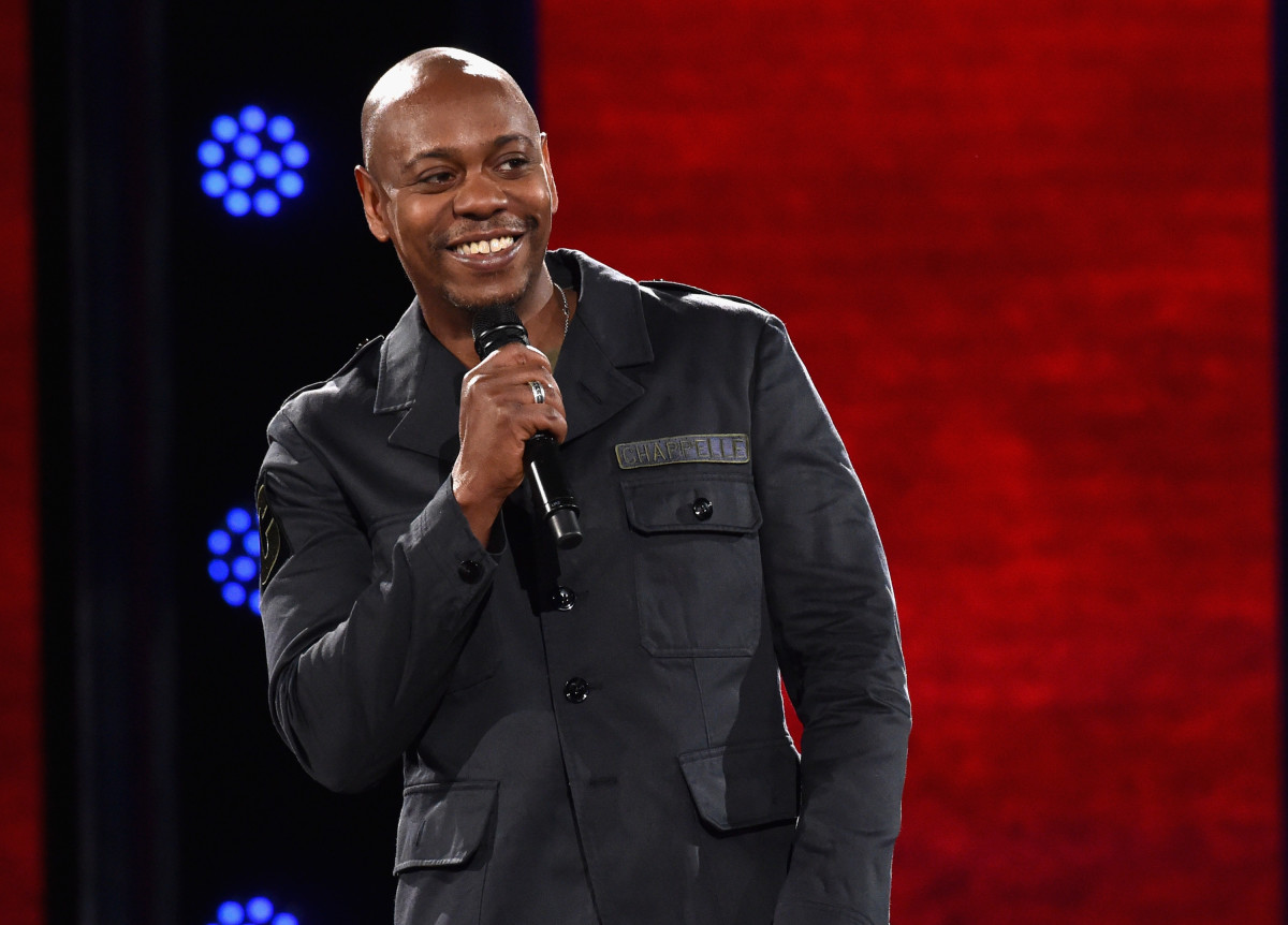 Dave Chappelle performs to a sold out crowd onstage at the Hollywood Palladium on March 25, 2016 in Los Angeles, California.