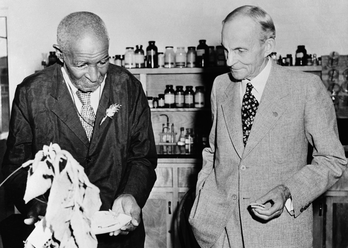 George Washington Carver with Henry Ford