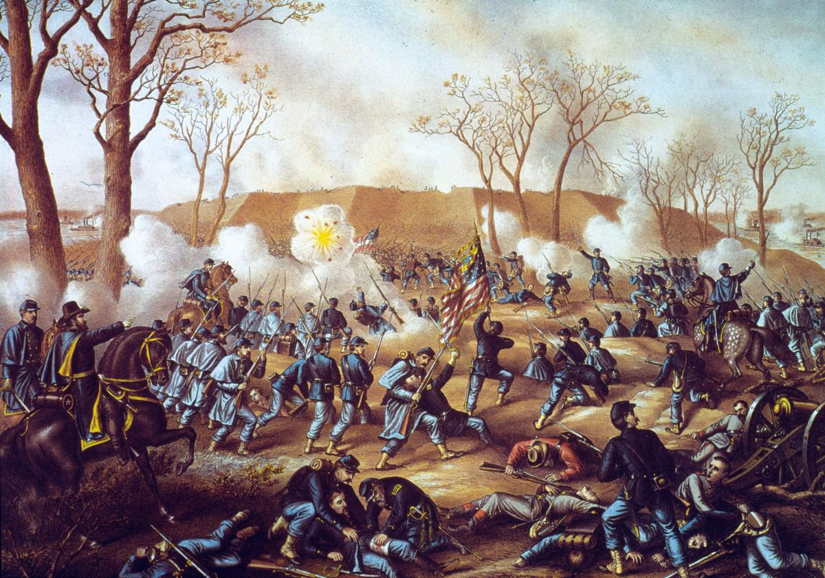 A scene from the Battle of Fort Donelson