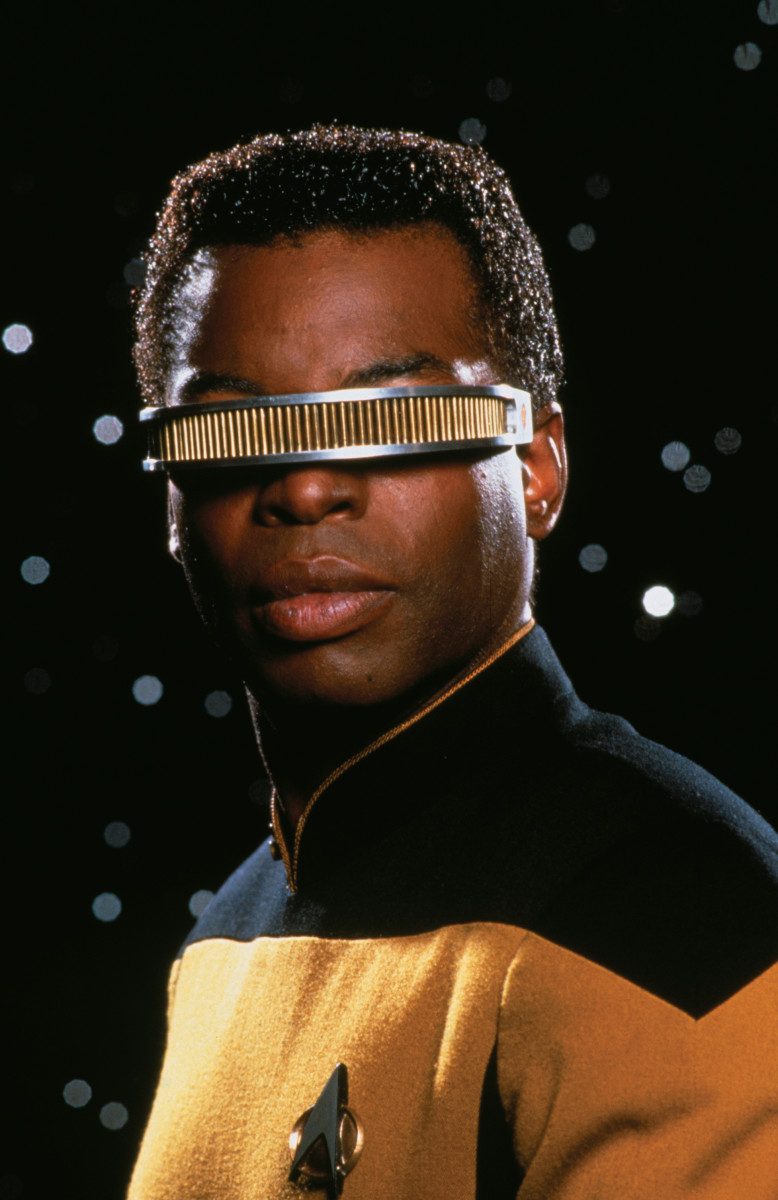 LeVar Burton as Lieutenant Commander Geordi La Forge in 'Star Trek The Next Generation