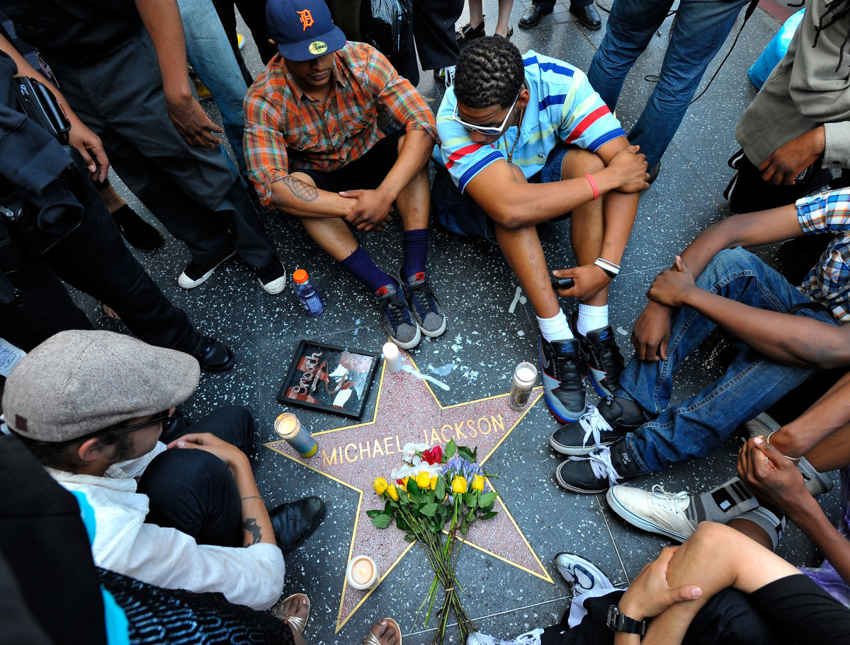 Michael Jackson's Star on the Hollywood Walk of Fame mourning his death on June 25, 2009