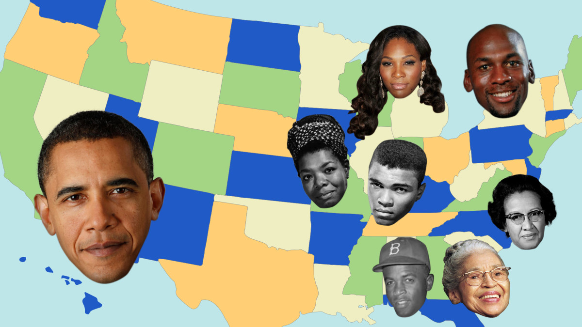 Birthplaces of 50 African-American History Makers