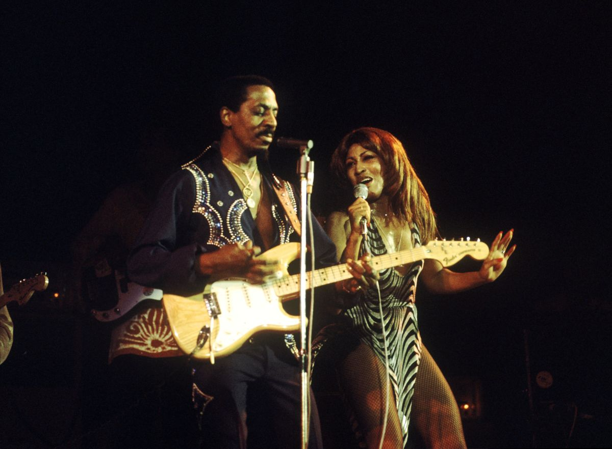 Ike Turner and Tina Turner performing live onstage