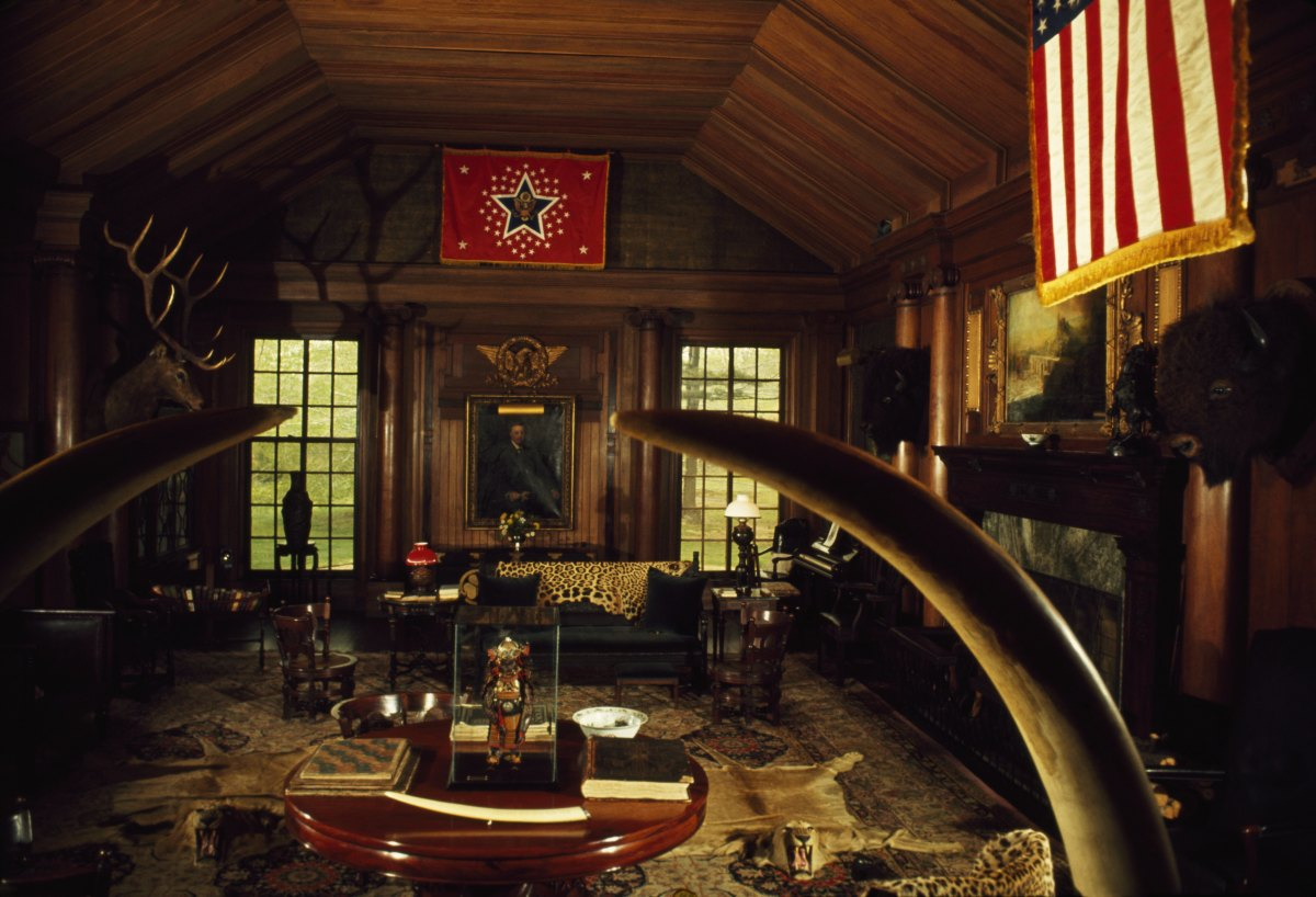 The den in Sagamore Hill