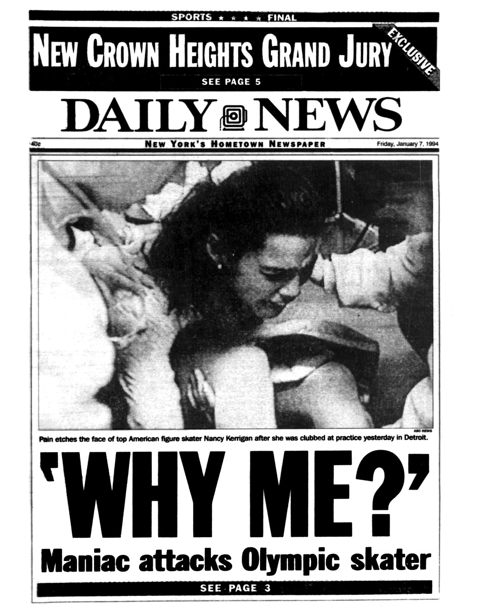 Nancy Kerrigan on the cover of NY Daily News