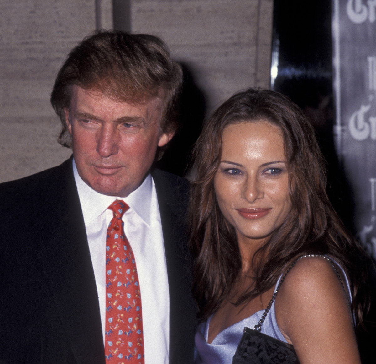 Donald Trump and Melania Trump attend the premiere of 'Celebrity' on September 25, 1998 at Avery Fisher Hall at Lincoln Center in New York City