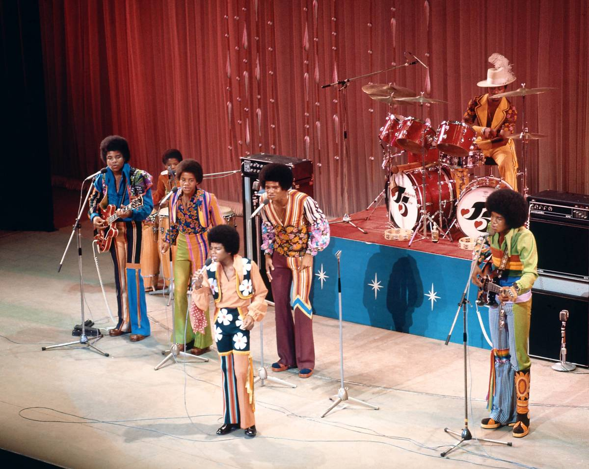 The Jackson 5 performing on stage at the Royal Variety Performance in November 1972