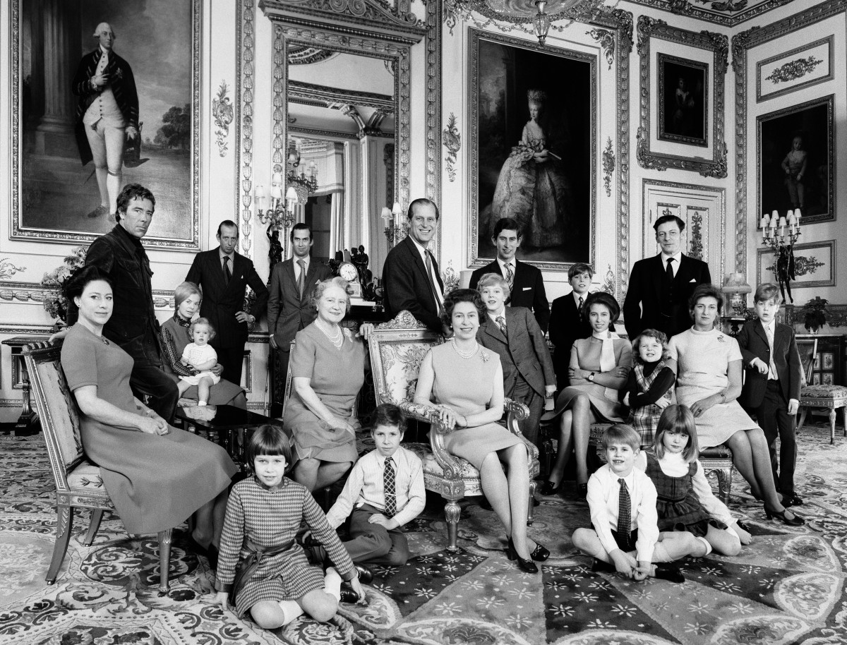 The Royal Family at Windsor Castle in December 1971