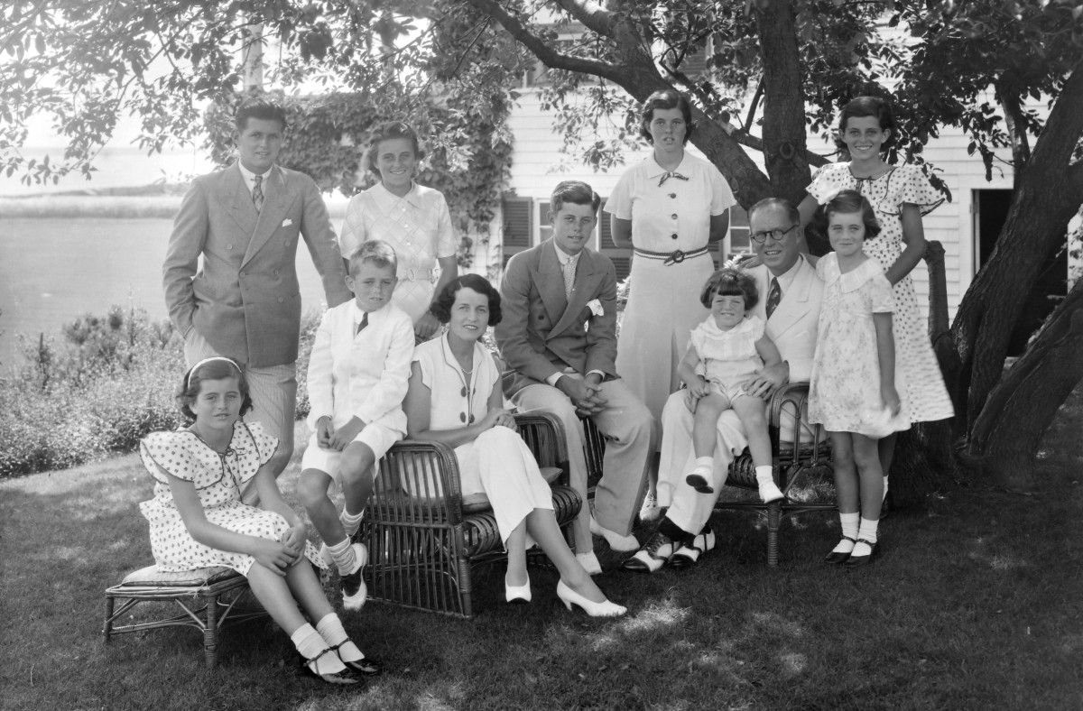 The Kennedy family in Hyannis, Massachusetts circa 1930s