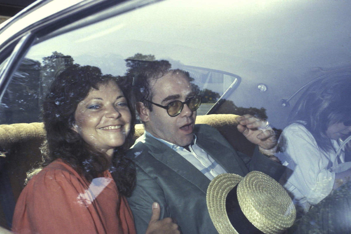 Elton John and Renate Blauel