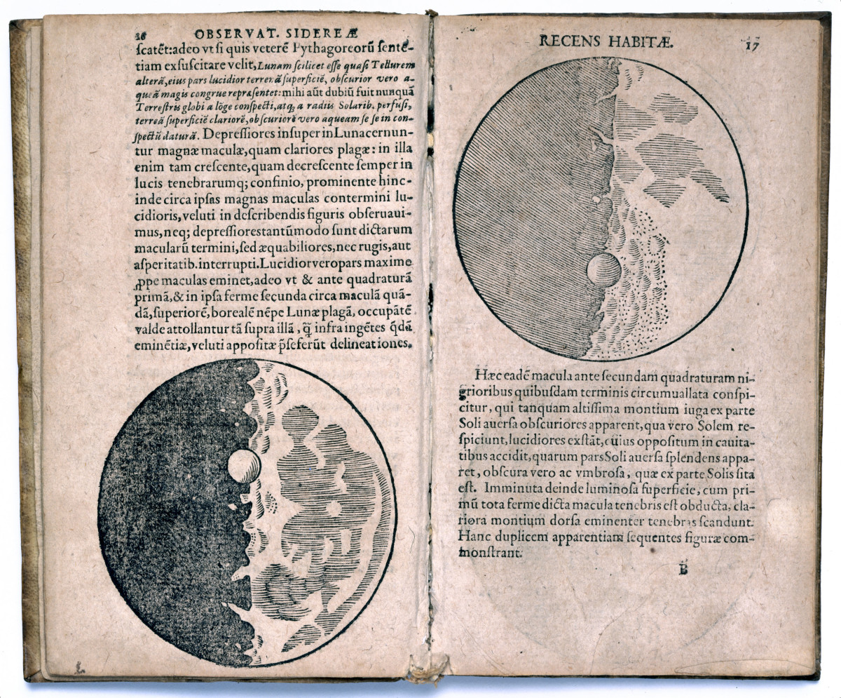 Pages from 'Sidereus Nuncius' by Galileo