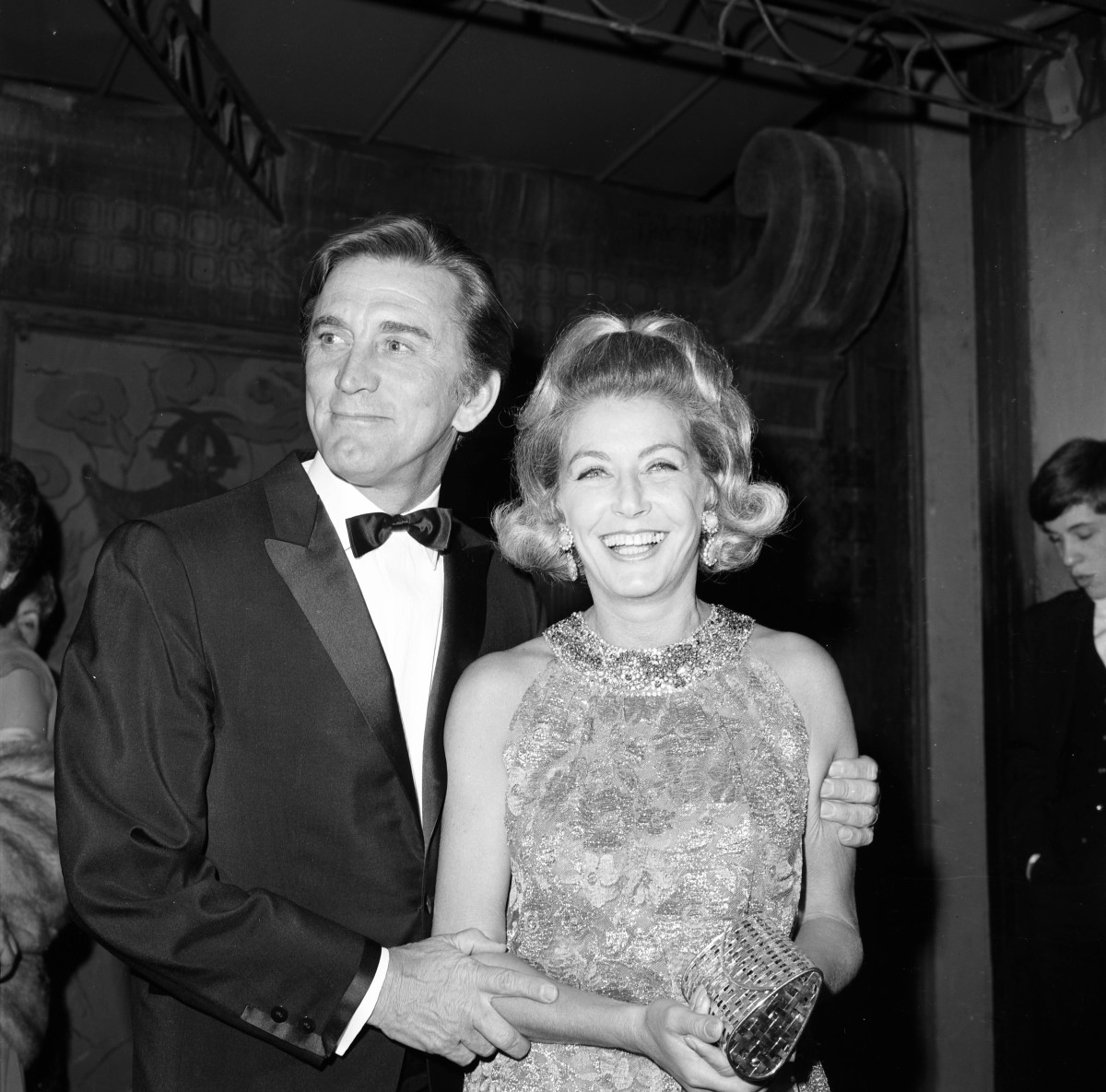 Kirk Douglas and his wife Anne
