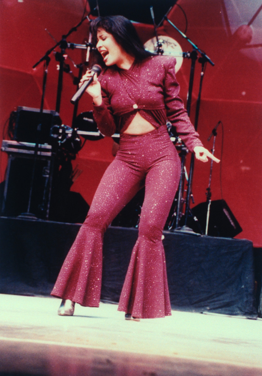 Selena performing at the Houston Astrodome