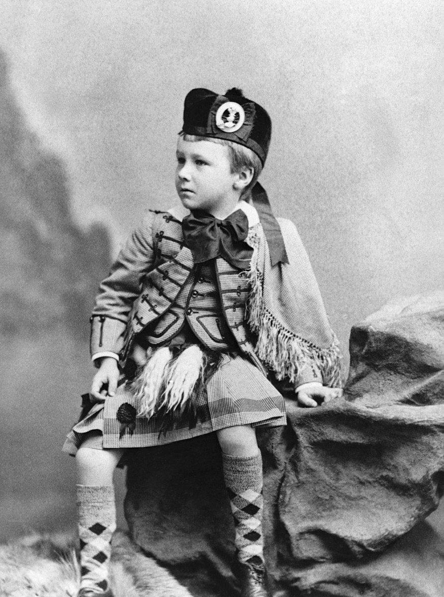 Franklin D. Roosevelt at the age of five