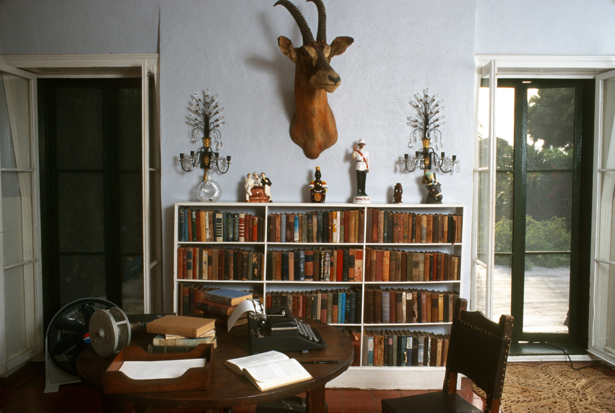 A study in Ernest Hemingway's home in Key West