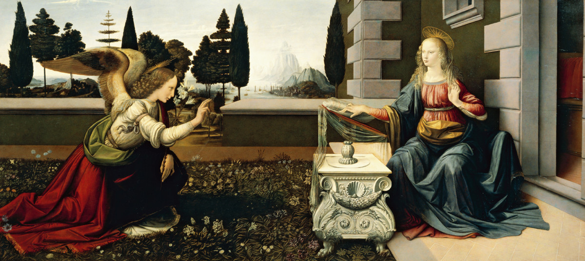 """Annunciation"" by Leonardo da Vinci."