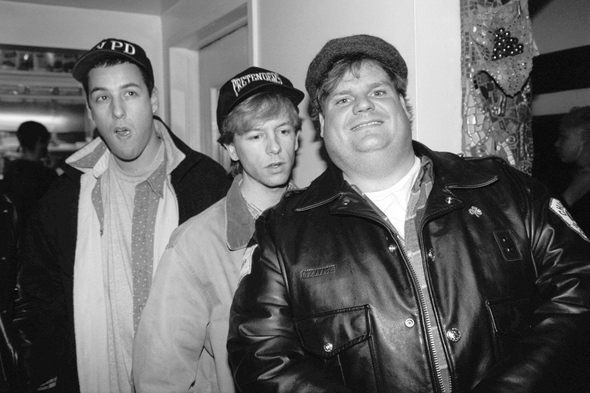 Adam Sandler, David Spade and Chris Farley