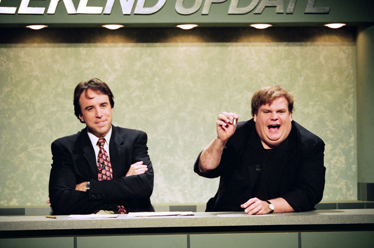 Kevin Nealon and Chris Farley