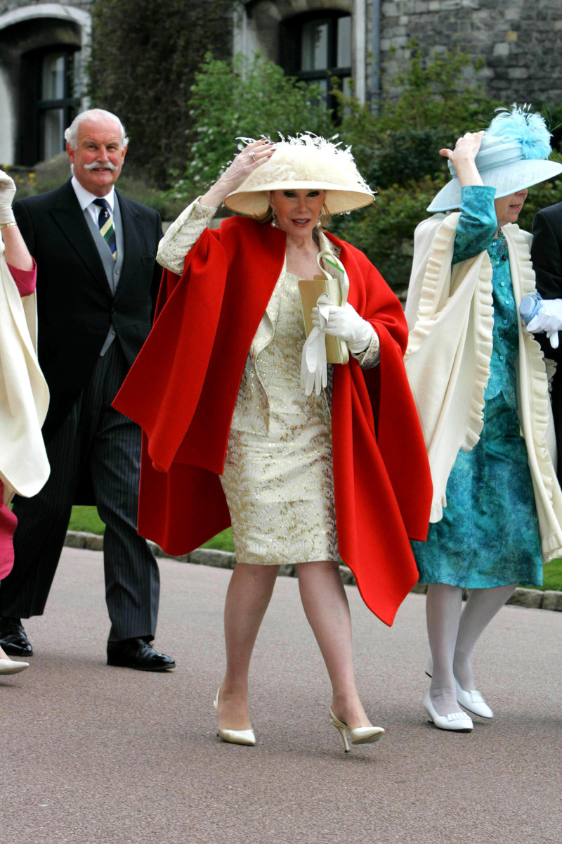 Joan Rivers at The Royal Wedding of HRH Prince Charles and Camilla Parker Bowles