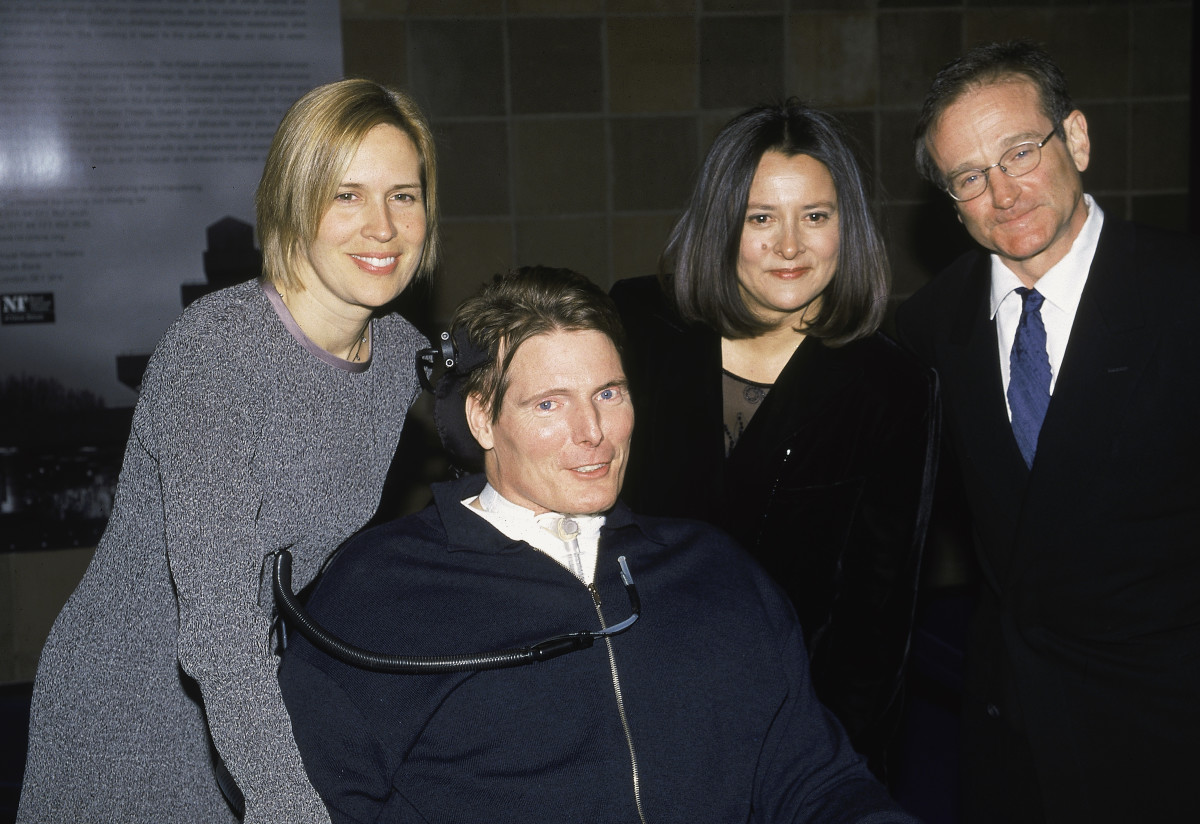 Dana Reeve, Christoper Reeve, Marsha Garces Williams and Robin Williams