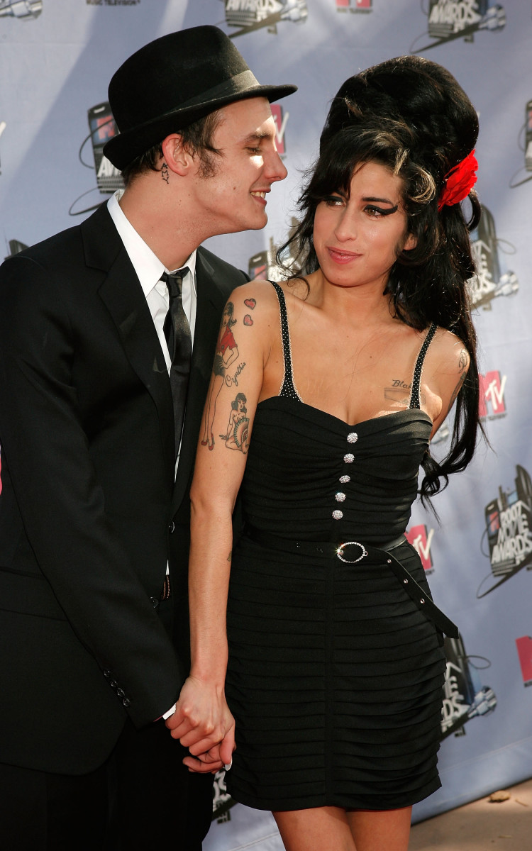 Amy Winehouse and Blake Fielder-Civil at the 2007 MTV Movie Awards held at the Gibson Amphitheatre on June 3, 2007, in Universal City, California
